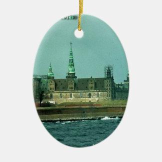 Kronborgs Castle Hamlets Castle In Denmark Ceramic Oval Ornament