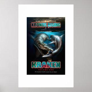 Kronos Rising: Kraken vol. 1 Pliosaur VS Megalodon Poster