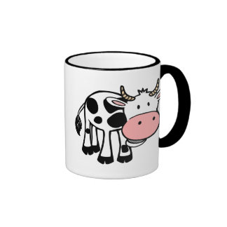 KROWA CUTE BABY COW FARM ANIMALS CARTOON HAPPY LIG MUG