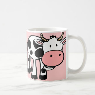 KROWA CUTE BABY COW FARM ANIMALS CARTOON HAPPY LIG MUGS