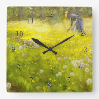 Kroyer's Garden at Skagen Square Wall Clock