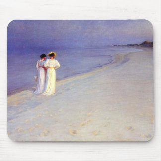 "Kroyer's ""Summer Afternoon on Skagen Beach"" Mouse Pad"