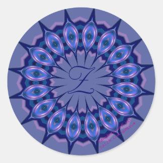 KRU Monogram Sticker *Sapphire*