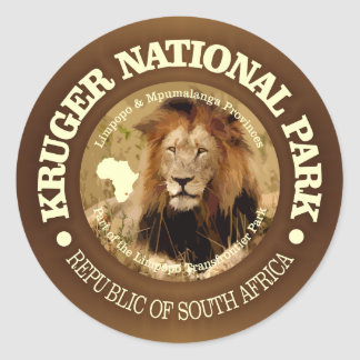 Kruger National Park (C) Classic Round Sticker