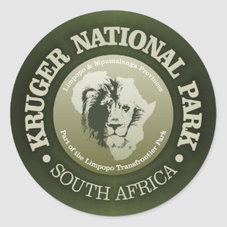 Kruger National Park Classic Round Sticker