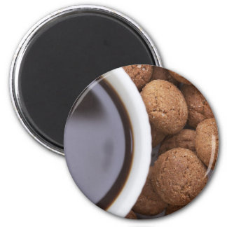 Kruidnootjes and Coffee 2 Inch Round Magnet