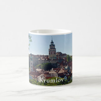 Krumlov Castle on the background of the town Coffee Mug