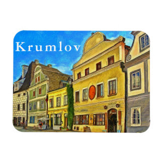 Krumlov. Fragment of urban architecture. Magnet
