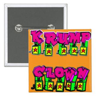 Krump Clown 2 Inch Square Button