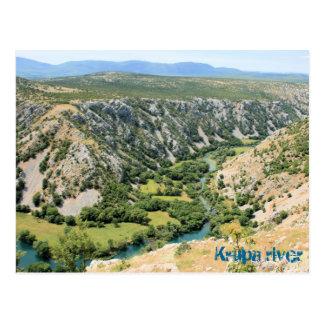Krupa river, Croatia, postcard