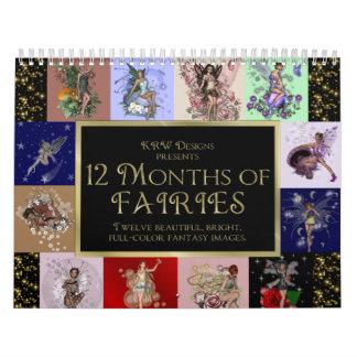 KRW 12 Months of Fairies 2010 Calendars