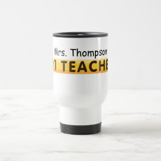 KRW #1 Teacher Custom Name Travel Mug