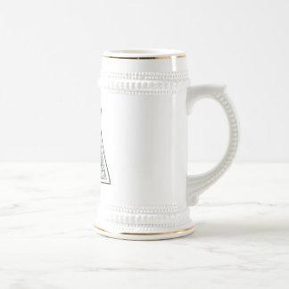 KRW - A - Celtic Monogram Stein Coffee Mug