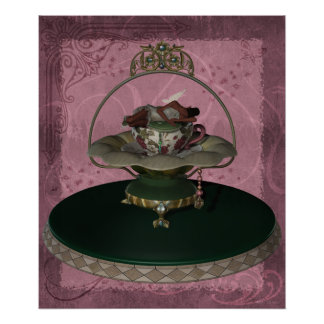 KRW African American Tea Cup Faerie Poster