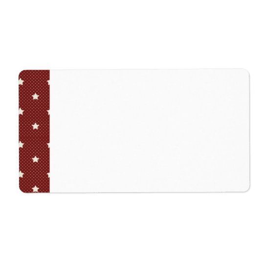 KRW Americana Red Star Blank Shipping Label