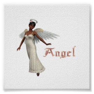 KRW Angel African American Poster