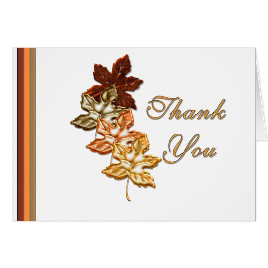 KRW Autumn Leaves Thank You Card