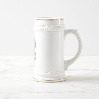 KRW - B - Celtic Monogram Stein Coffee Mug