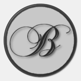 KRW - B - Monogrammed Seal Round Sticker