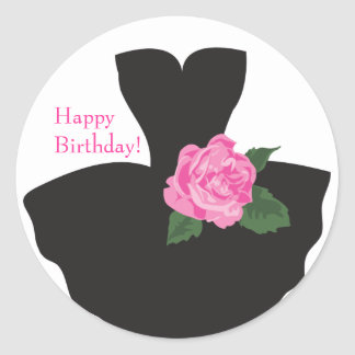 KRW Ballerina Rose Happy Birthday Sticker
