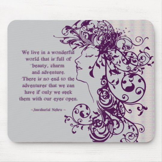 KRW Beauty Flourishes Quote Mouse Pad
