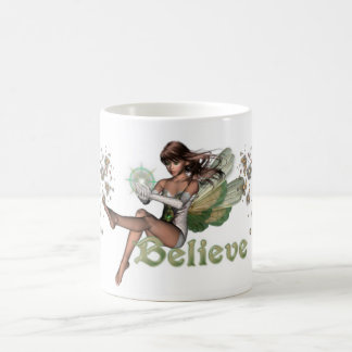 KRW Believe in Faeries Brunette Coffee Mug