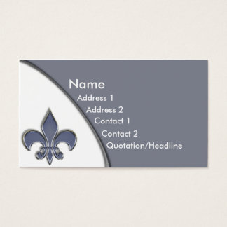 KRW Blue Fleur De Lis Two Tone Business Card