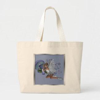 KRW Blue Lace Faery 4 Jumbo Tote Bag