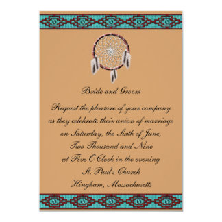 KRW Border Dreamcatcher Wedding Invitation