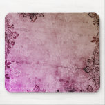 KRW Burgundy Watercolor Floral Grunge Mousepads
