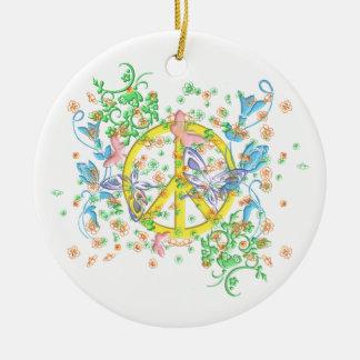 KRW Butterfly Peace Symbol Ornament