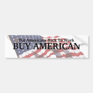 KRW Buy American Bumper Sticker