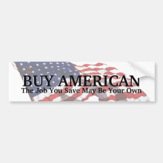 KRW Buy American Save a Job Bumper Sticker