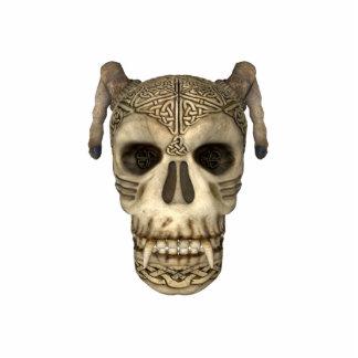 KRW Celtic Skull Photo Sculpture