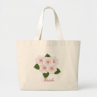 KRW Cherry Blossom Bride Large Tote Bag