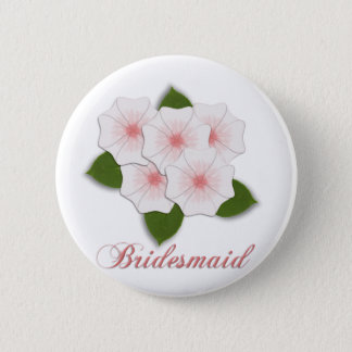 KRW Cherry Blossom Bridesmaid 2 Inch Round Button