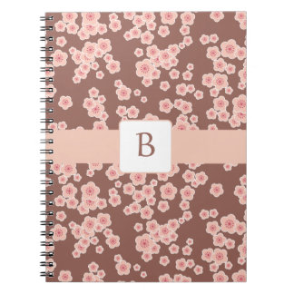 KRW Cherry Blossom Custom Monogram Notebook