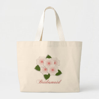 KRW Cherry Blossoms Bridesmaid Large Tote Bag