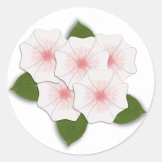 KRW Cherry Blossoms Classic Round Sticker