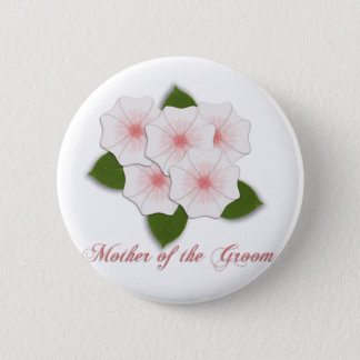 KRW Cherry Blossoms Mother of the Groom 2 Inch Round Button