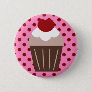 KRW Chocolate Cherry Cupcake 2 Inch Round Button