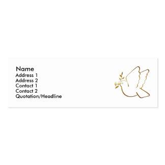 KRW Christian Dove Custom Profile Card Mini Business Card