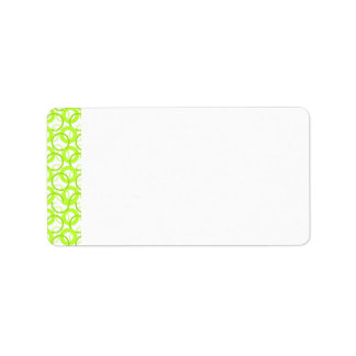 KRW Cool Lime Circle Blank Address Label