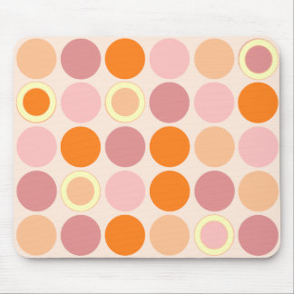 KRW Cool Pink and Orange Spots Mouse Pad