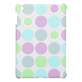 KRW Cool Purple Aqua and Lime Spots  iPad Mini Covers