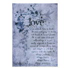 KRW Corinthians Love is: Wedding Invitation Navy