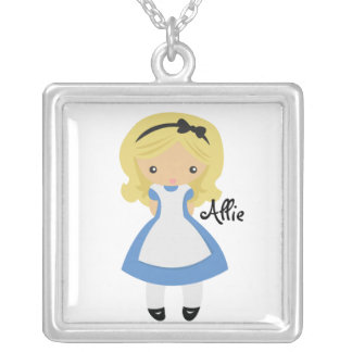 KRW Custom Alice in Wonderland Silver Necklace