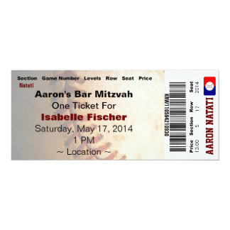 KRW Custom Baseball Bar Mitzvah Invitation