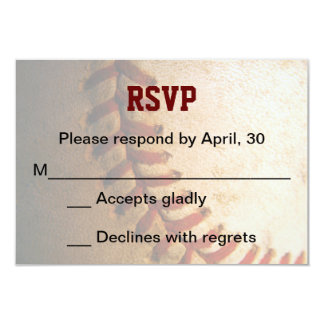 KRW Custom Baseball Bar Mitzvah RSVP Card