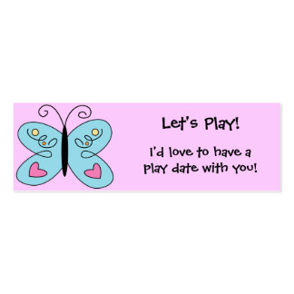 KRW Custom Colorful Butterfly Play Date Card Mini Business Card